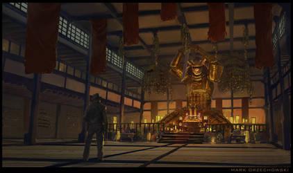 Indiana Jones - Sword Shrine Room Interior by Milkduster