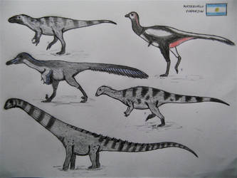 Portezuelo Formation fauna by RaptorGorilla