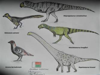 Maevarano Formation Dinosaurs by RaptorGorilla