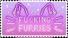 Fucking furries stamp F2U by SugarDaddyy