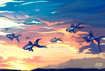 Sky Fishes by Jessandeviant