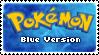 Stamp - PKMN Blue Version by kaitoupirate