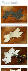 how to make a paper leavs by CannonCat