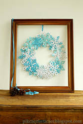 snow flake wreath by CannonCat