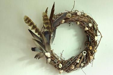 shell door wreath by CannonCat