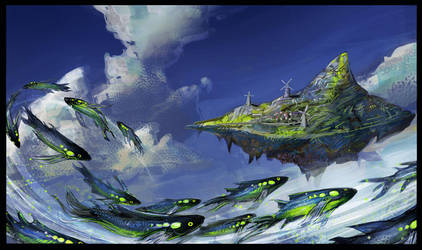 SkyFish school by s-mcmurchy