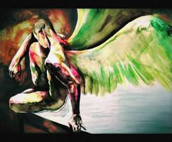 Watercolor Archangel by Antilef