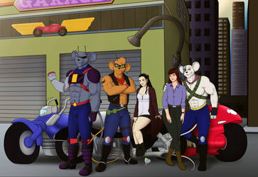 ~The Biker Mice returns - WithGlasses~ by AniaDawson