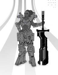 Offtank sketchy concept hero by NickProkoArt