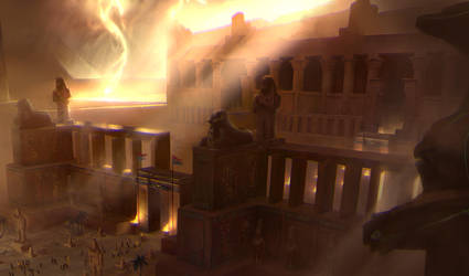 Egyptian storm (FINAL) by NickProkoArt