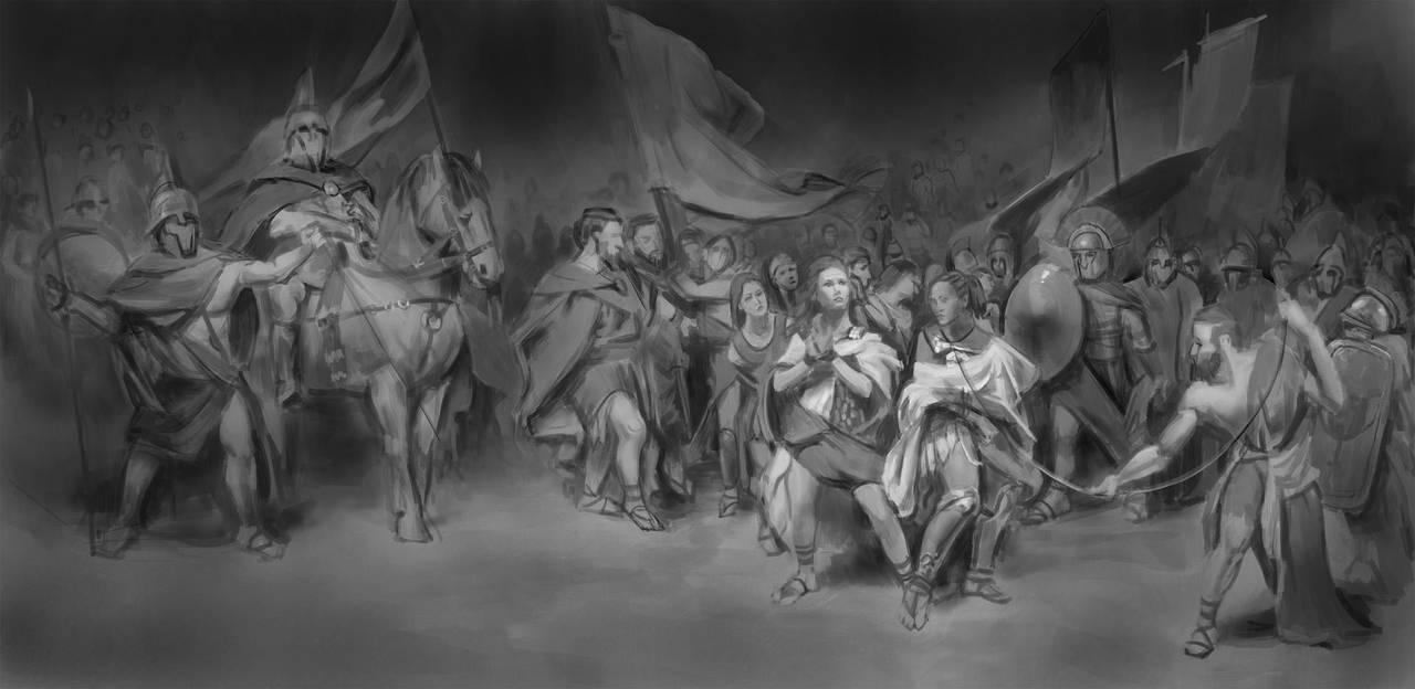 047- WIP another master study (Wonder Woman movie) by NickProkoArt