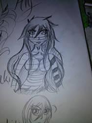 Final Getsuga Tenshou Sketch by AlyHisanaKurosaki16