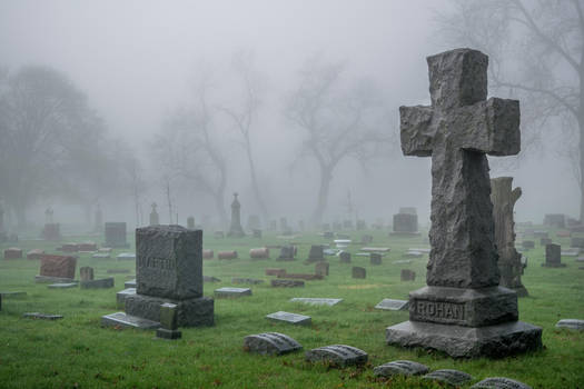 Bad Willow Cemetery Stock by redwolf518stock