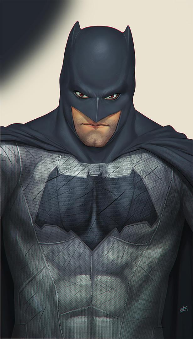 Ben Affleck Batman's selfie by 2d-artist