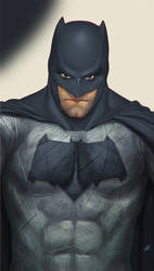 Ben Affleck Batman's selfie by 2d-artist