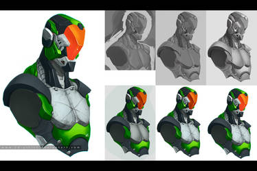 cyborg + steps by 2d-artist