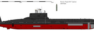 Project 941 Typhoon class Submarine by darthpandanl