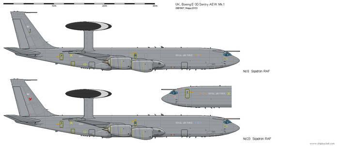 Boeing E-3D Sentry AEW.Mk 1 by darthpandanl