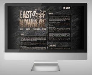 East Of Nowhere webdesign by Northanger