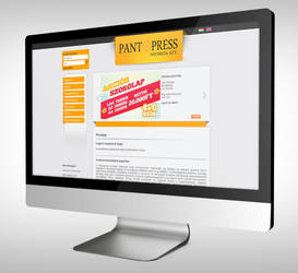 Pantopress webdesign by Northanger