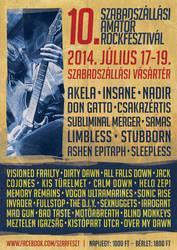 SZARFESZT2014 festival flyer by Northanger