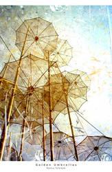 Golden Umbrellas by ladida