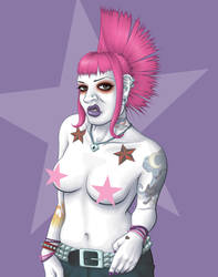 Punk Chick by FountainOfDecay