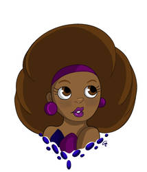 Afro (w/o background) by Wicked-MSTH