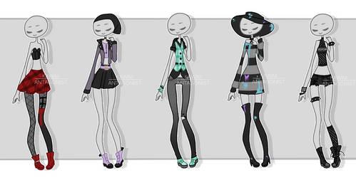 Gachapon outfits 15 by kawaii-antagonist