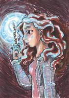 ACEO Hermione by nickyflamingo