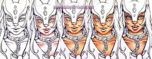 Skin Color Progression Sailor Itzcuintli by nickyflamingo