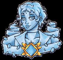 Crystal Portrait Chalcedony by nickyflamingo