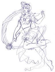 Sailor New Moon Sketch for Sketching-Panda-Ren by nickyflamingo