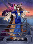 Dio and Amara as Jack and Rose by nickyflamingo