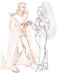 Nebula Knight Carina and Nebula Fury of Tucanae by nickyflamingo