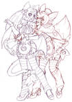 Hope and Evelynn sketch by nickyflamingo