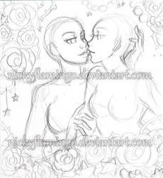 Super Shoujo Sparkletime Kiss YCH CLOSED by nickyflamingo