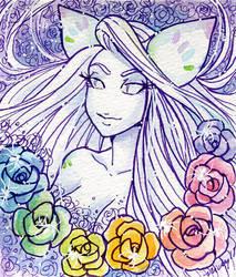 Samael watercolor by nickyflamingo
