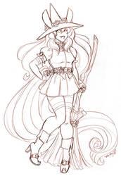 October Patreon Reward Witch Flora by nickyflamingo