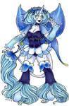 Blue Columbine Unicorn by nickyflamingo