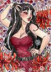 Merlot Floral Watercolor by nickyflamingo