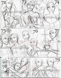 ACEO YCHs 72 through 79 PENDING by nickyflamingo