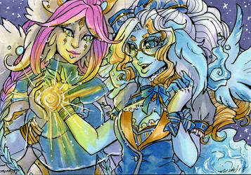 ACEO Safi and Esme by nickyflamingo