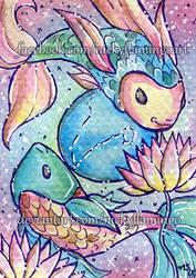 ACEO Zodiac Pisces by nickyflamingo