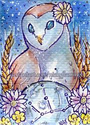 ACEO Zodiac Virgo by nickyflamingo