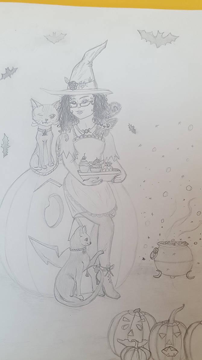 Halloween Kitchen by FoxandRabbitPress