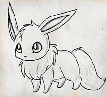 Eevee by Awkward-Zombie-Fan