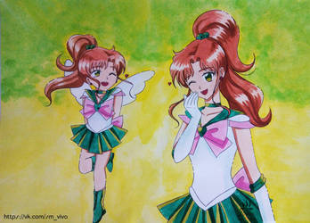Adults and children: Sailor Jupiter by YoujinTsukino