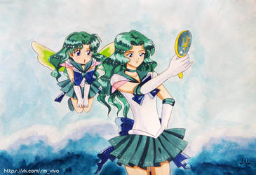Adults and children: Sailor Neptune by YoujinTsukino