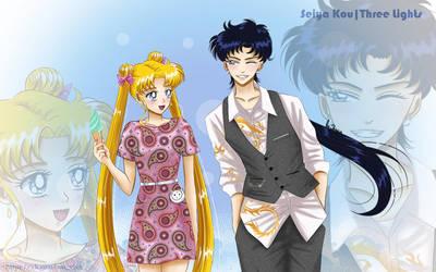 Sailor Moon - Usagi and Seiya by YoujinTsukino